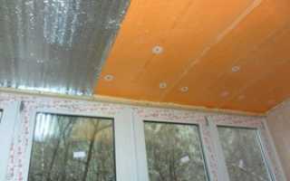 Как утеплить потолок на балконе своими руками быстро и экономно