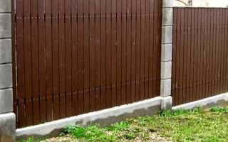 Бетонный забор с уклоном как поставить