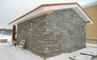 Баня из пеноблоков своими руками видео от фундамента до крыши