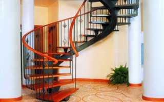 Винтовая лестница из металла своими руками