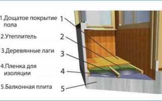 Как сделать обрешетку на балконе для пола