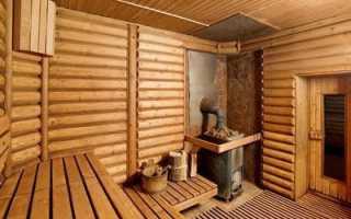 Баня дровах печью каменкой