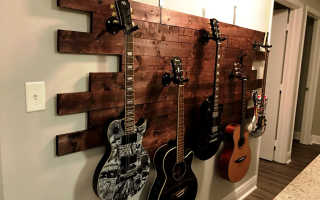 Держатель для гитары на стену своими руками