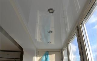 Как сделать балкон своими руками потолок