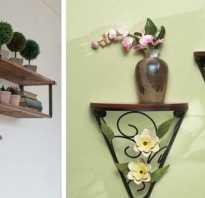 Полка на стену для цветов из дерева своими руками