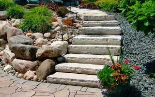 Бетонная лестница своими руками для сада