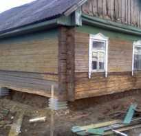 Фундамент своими руками если дом стоит