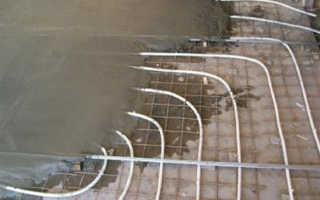 Стяжка для теплого водяного пола зимой