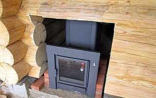 Баня печь в перерубе