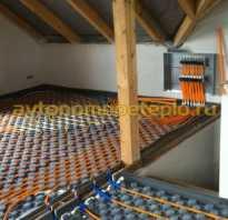 Схема водяного теплого пола в деревянном доме