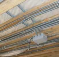 Электропроводка на подвесном потолке своими руками