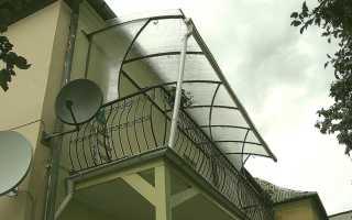 Навес балкон из поликарбоната своими руками