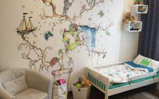 Картинки для росписи стен в детской своими руками