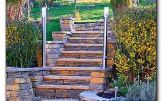 Бетонная лестница в саду своими руками