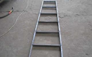 Как сделать лестницу стремянку из металла своими руками