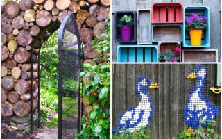 Как задекорировать забор на своем участке