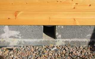 Устройство вентиляции пола в деревянного дома