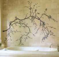 Рисунки для стен в ванной комнаты своими руками