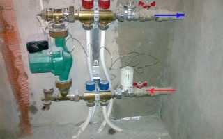 Схема водяного теплого пола без смесительного узла