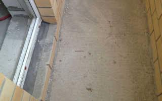 Как залить бетоном пол на балконе своими руками