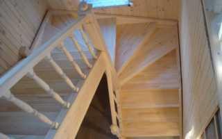 Винтовая лестница 90 градусов своими руками