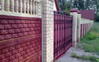 В какой цвет покрасить железобетонный забор фото