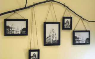 Декор стены фотографиями в рамках своими руками