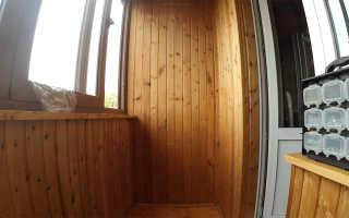 Как сделать дверцы из вагонки на балконе
