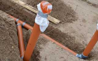 Глубина залегания трубы канализации из дома