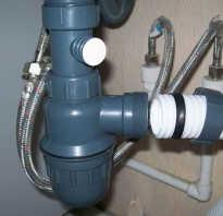 Установка раковины с подводом к канализации
