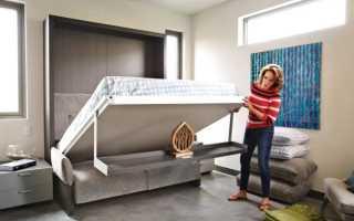 Диван кровать встроенный в стену своими руками