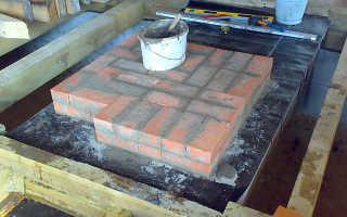 Столбчатый фундамент под печь бани