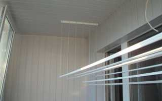 Веревка на балконе для сушки своими руками