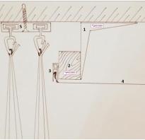 Шторы спрятанные в потолке своими руками для натяжного потолка