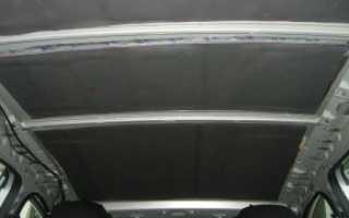 Шумоизоляция потолка автомобиля своими руками материалы