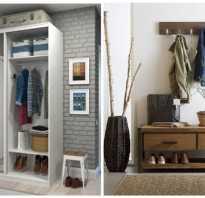 Шкафы в прихожей над дверью