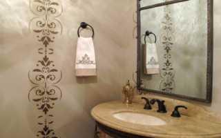 Как сделать трафарет для стен в ванной своими руками