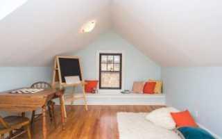 Как сделать полы на мансарде в деревянном доме видео