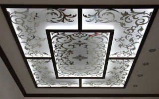 Витражные потолки с подсветкой своими руками видео