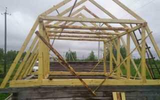 Сделать самому крышу дома ломаную