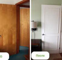 Чем обклеить дверь межкомнатную