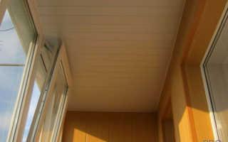 Как сделать потолок в лоджии пошаговая инструкция