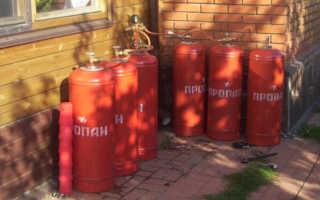 Автономное отопление частного дома своим газом из баллонов