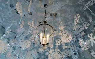 Чем украсить потолок к новому году своими руками