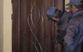 Как снять с петель железную дверь
