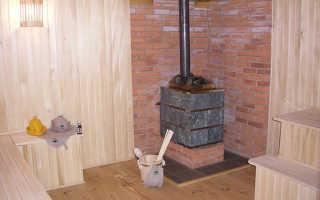Баня с печью в середине