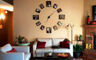 Часы из фотографий в рамках на стену своими руками