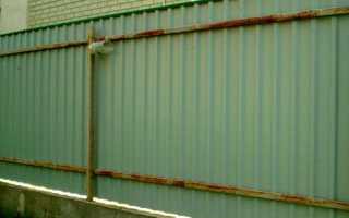Забор без сварки и бетона