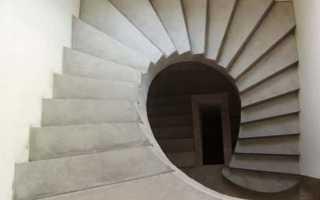 Бетонная винтовая лестница на второй этаж своими руками