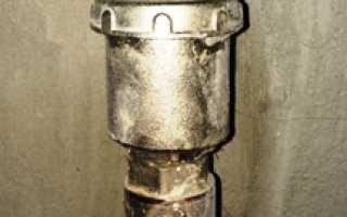 Вантуз для выпуска воздуха из канализации